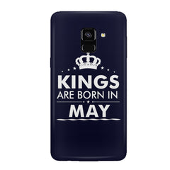 Kings are born in May design all side printed hard back cover by Motivate box Samsung J6 Plus hard plastic all side printed back cover.