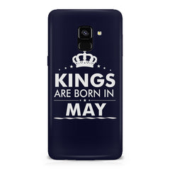 Kings are born in May design    Samsung A8 plus 2018 hard plastic printed back cover