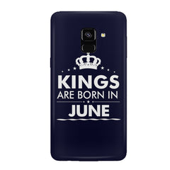 Kings are born in June design all side printed hard back cover by Motivate box Samsung J6 Plus hard plastic all side printed back cover.