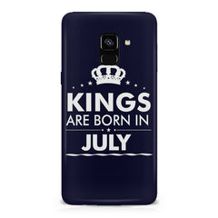 Kings are born in July design    Samsung A8 plus 2018 hard plastic printed back cover