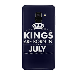 Kings are born in July design all side printed hard back cover by Motivate box Samsung J6 Plus hard plastic all side printed back cover.