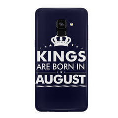 Kings are born in August design all side printed hard back cover by Motivate box Samsung J6 Plus hard plastic all side printed back cover.