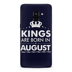 Kings are born in August design    Samsung A8 plus 2018 hard plastic printed back cover
