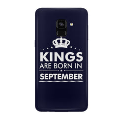Kings are born in September design all side printed hard back cover by Motivate box Samsung J6 Plus hard plastic all side printed back cover.