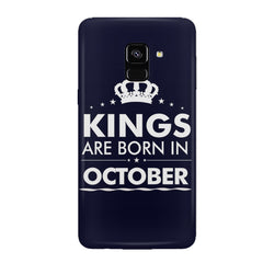 Kings are born in October design all side printed hard back cover by Motivate box Samsung J6 Plus hard plastic all side printed back cover.