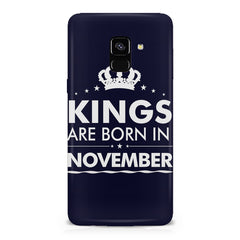 Kings are born in November design    Samsung A8 plus 2018 hard plastic printed back cover