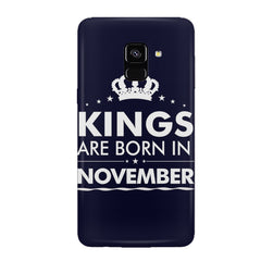 Kings are born in November design all side printed hard back cover by Motivate box Samsung J6 Plus hard plastic all side printed back cover.