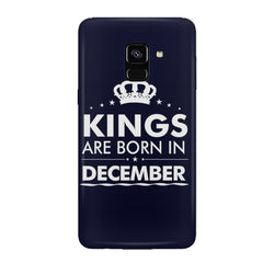 Kings are born in December design all side printed hard back cover by Motivate box Samsung J6 Plus hard plastic all side printed back cover.