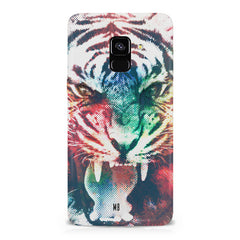 Tiger with a ferocious look Samsung A6 plus hard plastic printed back cover.