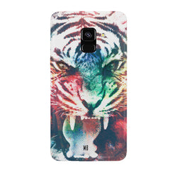 Tiger with a ferocious look Samsung J6 Plus hard plastic all side printed back cover.