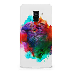 Colourful parrot design Samsung A8 plus 2018 hard plastic printed back cover