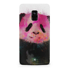 Polar Bear portrait design Samsung A6 plus hard plastic printed back cover.