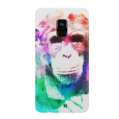Colourful Monkey portrait Samsung J6 Plus hard plastic all side printed back cover.