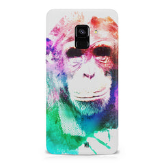Colourful Monkey portrait Samsung A6 plus hard plastic printed back cover.