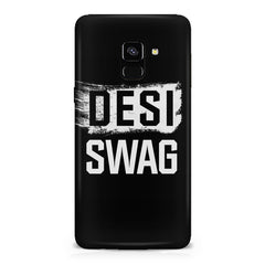 Desi Swag Samsung A8 plus 2018 hard plastic printed back cover