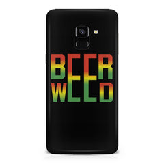 Beer Weed Samsung A8 plus 2018 hard plastic printed back cover
