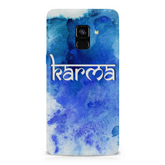 Karma Samsung A6 plus hard plastic printed back cover.