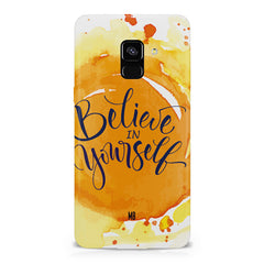 Believe in Yourself Samsung A8 plus 2018 hard plastic printed back cover