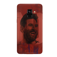 Messi jersey 10 blended design Samsung J6 Plus hard plastic all side printed back cover.