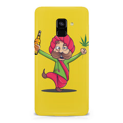 Sardar dancing with Beer and Marijuana  Samsung A6 plus hard plastic printed back cover.