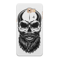 Skull with the beard  design,  Samsung Galaxy C7 Pro  printed back cover