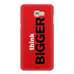 Think Bigger- For Entrepreneurs design,   Samsung C9 Pro hard plastic printed back cover.