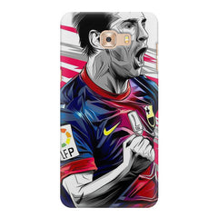 Messi illustration design,  Samsung Galaxy C7 Pro  printed back cover