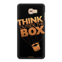 Think Outside The Box- Entrepreneur Lines design,   Samsung C9 Pro hard plastic printed back cover.