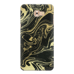 Golden black marble design Samsung Galaxy C7 Pro  printed back cover