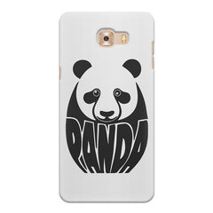 White Panda  design,   Samsung C9 Pro hard plastic printed back cover.