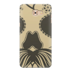 Voguish skull  design,   Samsung C9 Pro hard plastic printed back cover.