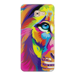 Colourfully Painted Lion design,  Samsung Galaxy C7 Pro  printed back cover