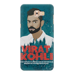 Virat Kohli Indian Cricket Team Captain Quote design,   Samsung C9 Pro hard plastic printed back cover.