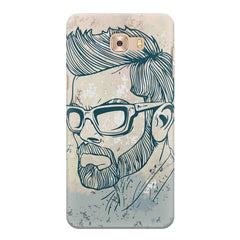 Virat Kohli Stylish Abstract Art design,   Samsung C9 Pro hard plastic printed back cover.