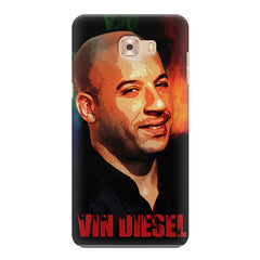 Vin Diesel Oil Painting Fanart design,   Samsung C9 Pro hard plastic printed back cover.