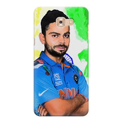 Virat Kohli Oil Painting India design,   Samsung C9 Pro hard plastic printed back cover.