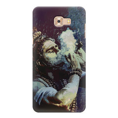 Smoking weed design Samsung Galaxy C7 Pro  printed back cover