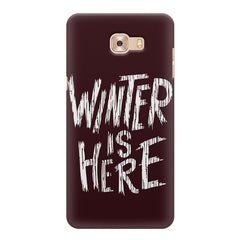 Winter is here Game of Thrones design  Samsung C9 Pro hard plastic printed back cover.