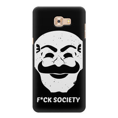 Fuck society design Samsung Galaxy C7 Pro  printed back cover