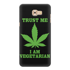 Vegan weeed design  Samsung C9 Pro hard plastic printed back cover.