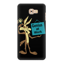 Genius at work design Samsung Galaxy C7 Pro  printed back cover