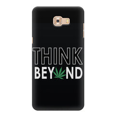 Think beyond weed design Samsung Galaxy C7 Pro  printed back cover