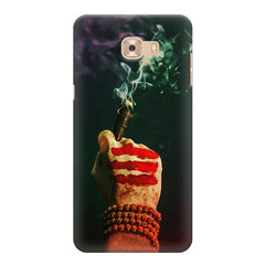 Smoke weed (chillam) design Samsung Galaxy C7 Pro  printed back cover