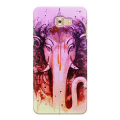 Lord Ganesha design Samsung Galaxy C7 Pro  printed back cover