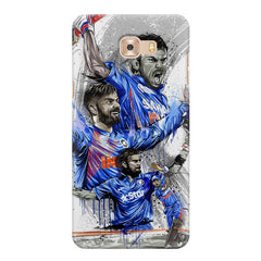 Virat Kohli in his various avatars  design/Indian Cricket legend design   Samsung C9 Pro hard plastic printed back cover.