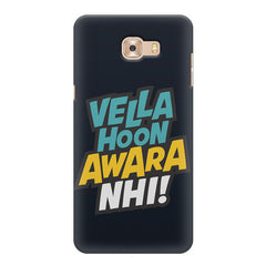 Vella hoon awara nhi! Quote design Samsung C9 Pro all side printed hard back cover by Motivate box Samsung C9 Pro hard plastic printed back cover.
