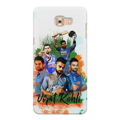 Virat Kohli over the years collage Design  Samsung C9 Pro hard plastic printed back cover.