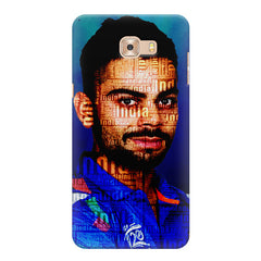 Virat Kohli India inscribed design Samsung C9 Pro all side printed hard back cover by Motivate box Samsung C9 Pro hard plastic printed back cover.