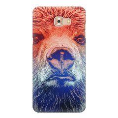 Zoomed Bear Design  Samsung C9 Pro hard plastic printed back cover.