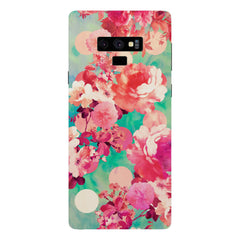 Floral  design,  Samsung Galaxy Note 9 hard plastic printed back cover